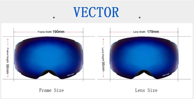 VECTOR Ski Goggles Double UV400 Anti Fog Big Mask Glasses Skiing Professional  Snow Snowboard