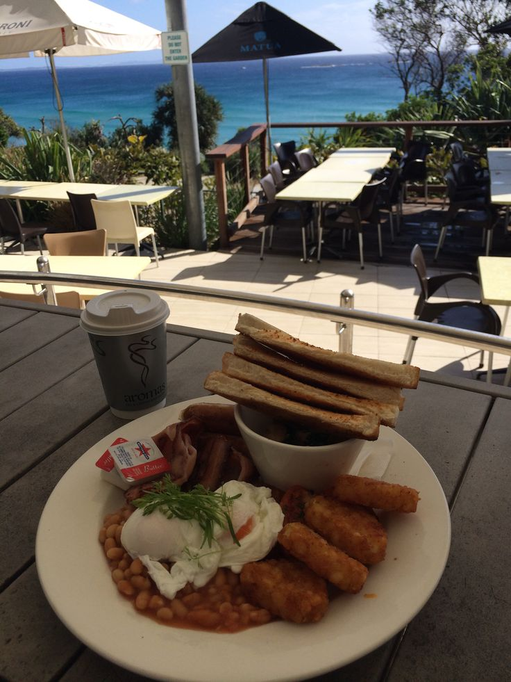 Nice breaky with a view from the Point Lookout Hotel on North Stradbroke Island