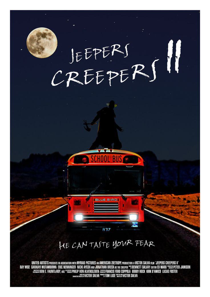 Movie Fan Magazines: Jeepers Creepers Movie Poster