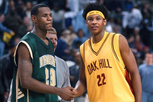 Young LeBron and Carmelo