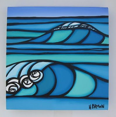 heather brown art wave