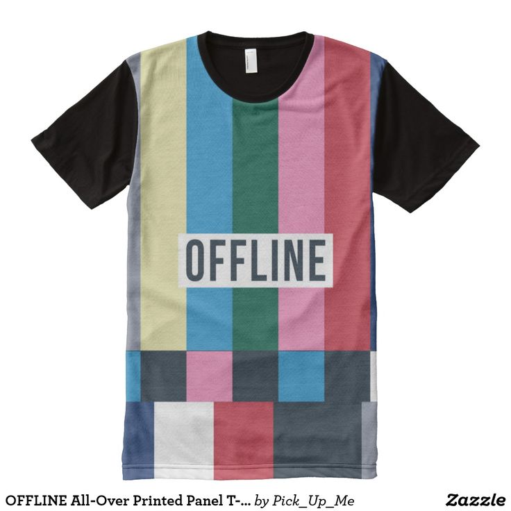 OFFLINE All-Over Printed Panel T-Shirt