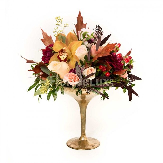 flori de toamna, aranjamente de toamna, cupa cu flori de toamna, livrari flori de toamna