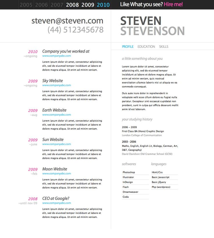 Best Ref Cv Templates Images On   Resume Ideas Cv