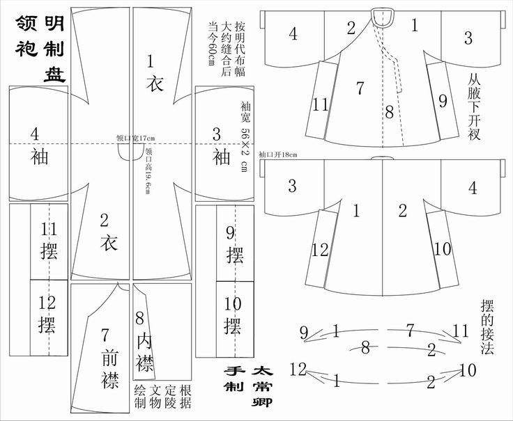 明式圓領袍圖樣/Ming Dynasty round collar court robe