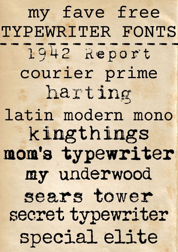 A collection of amazing free typewriter fonts, from aged to more refined, good for personal or commercial use.