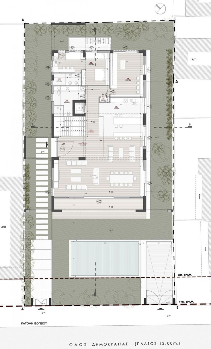 1608 best house cottage floorplans images on pinterest residence in glyfada by dolihos architects 20