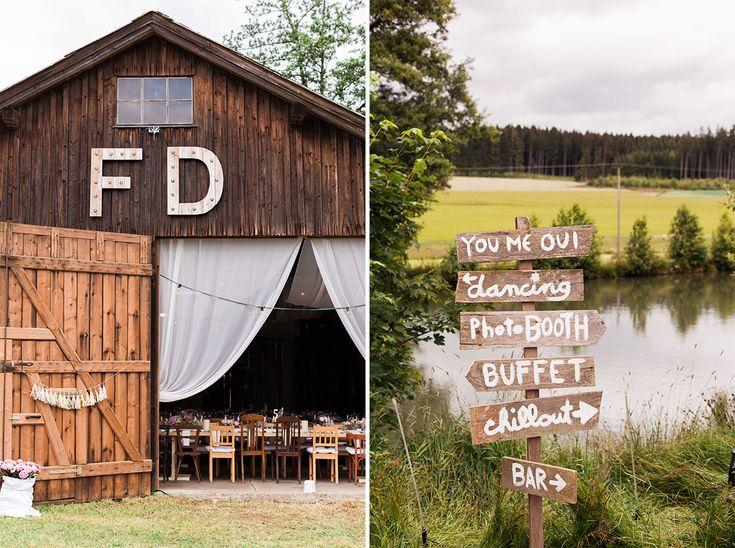Scheunen Hochzeit Bayern - urig!  #Bavarian #wedding #farm #rustic