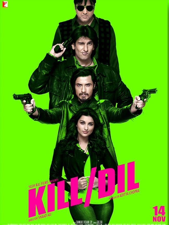 'Kill Dil' poster featuring Govinda, Ranveer Singh, Ali Zafar and Parineeti Chopra. #Bollywood #Movies