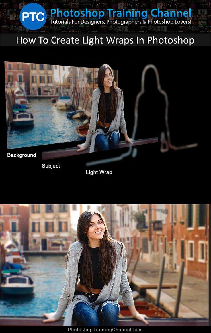 Video tutorial showing you how to create Light Wraps in Photoshop. Light Wraps (or Light spills) can help you create better composites by making better blends between the background and foreground.