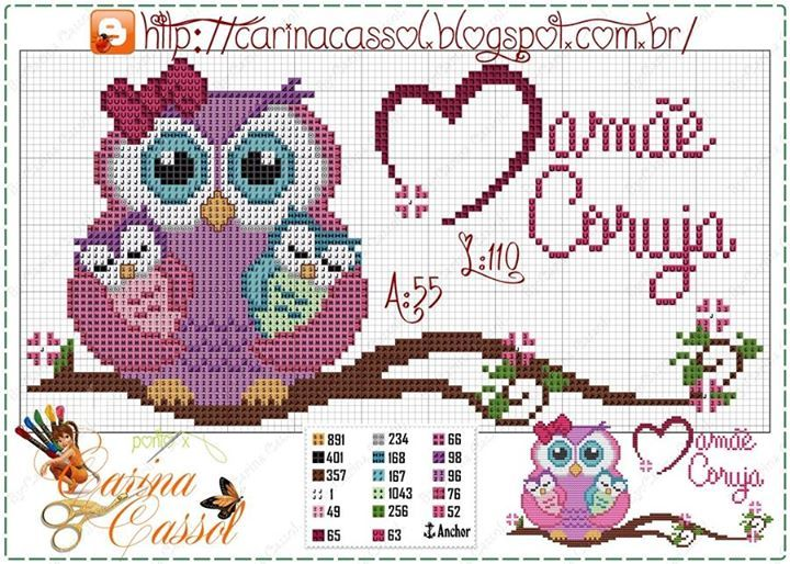 Owl pattern by Carina Cassol