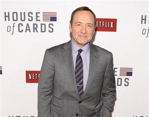 "House of Cards, Jerry Seinfeld top Webby Awards. Pictured: Kevin Spacey at the premiere of Netflix's first original series, ""House of Cards,"" in Washington. http://www.uticaod.com/living/x1853932213/House-of-Cards-Jerry-Seinfeld-top-Webby-Awards"