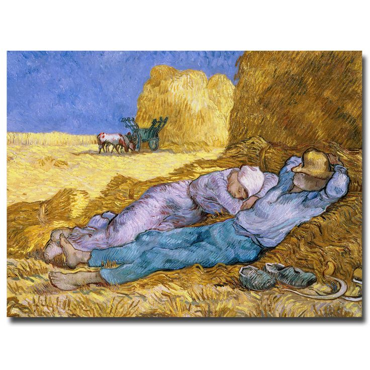 Vincent van Gogh 'Siesta After Millet 1890' Gallery