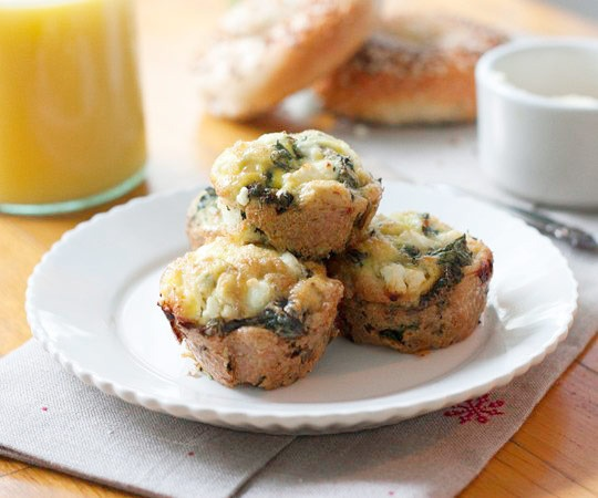 Kale & Goat Cheese Frittata Cups