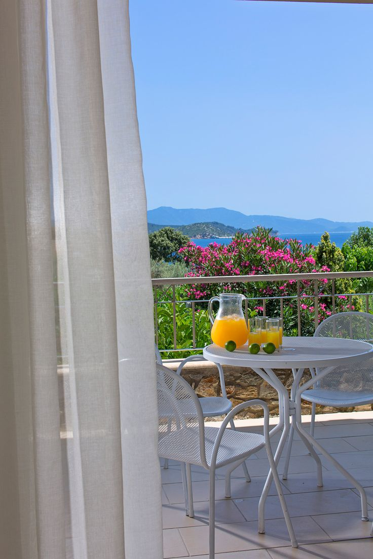 Freshly squeezed orange juice, served cool at your balcony in Kassandra Bay Resort! #KBR #summer #view