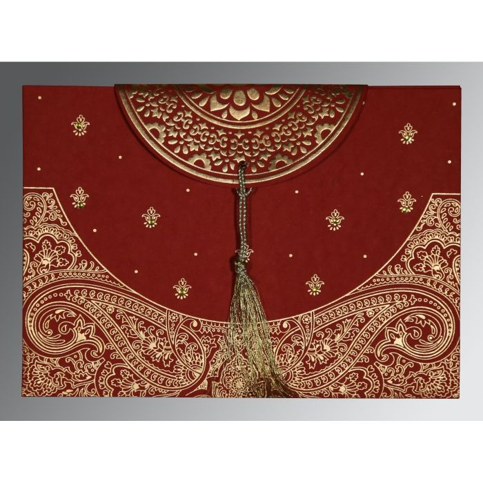 Hindu Wedding Cards - W-8234L                                                                                                                                                     More