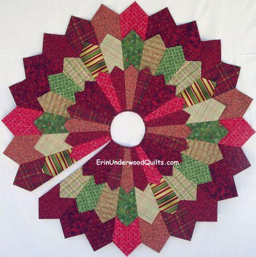 Triple Dresden Tree Skirt PATTERNS By Erin Underwood Quilts