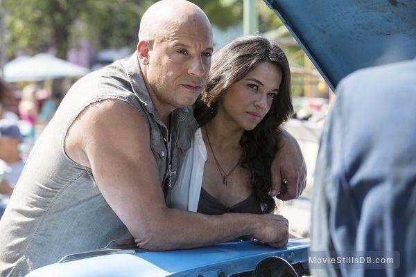 Fast Furious 8 Publicity Still Of Vin Diesel Michelle Rodriguez In 2021 Fast And Furious Fast And Furious Letty Vin Diesel And Michelle Rodriguez