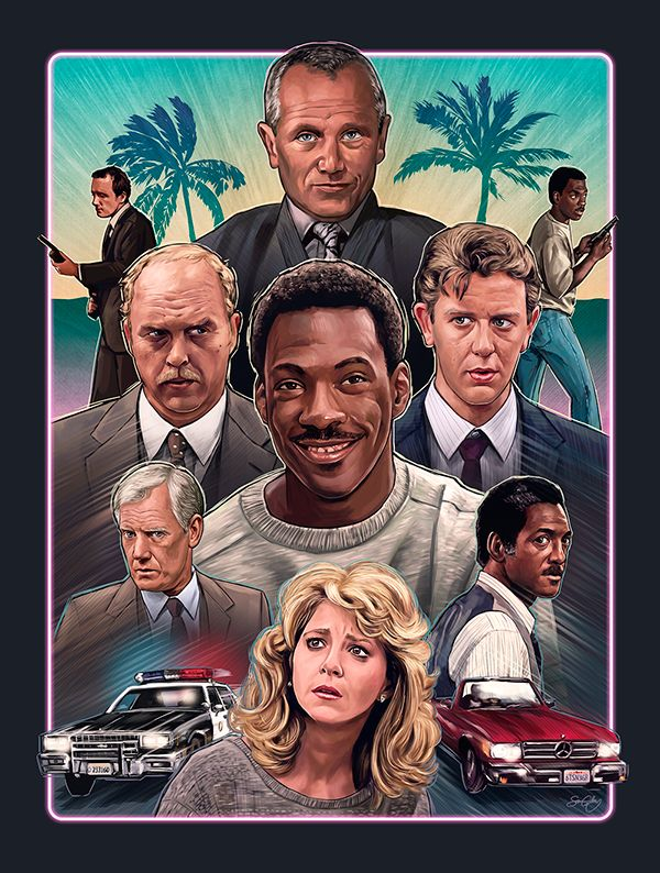 Limited edition Beverly Hills Cop inspired poster for Bottleneck Gallery's 'It Came From 1984' exhibition, February 2014.