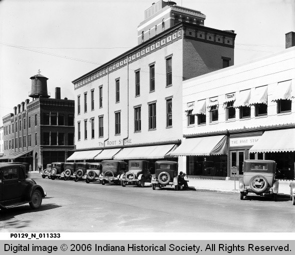The Root Store front on Ohio Street - 1930, Terre Haute, Indiana