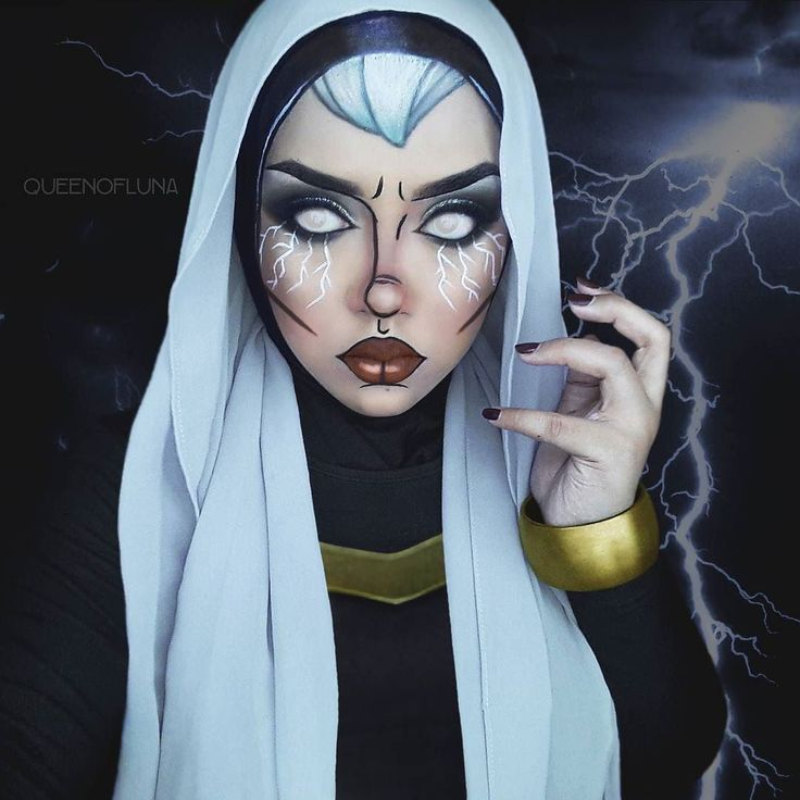 Pop art Storm (X-Men) makeup/facepaint.  This is already my second attempt. . Hope you guys have a great day.  . Products used: @mehronmakeup Black and white Fantasy fx paints @sigmabeauty Endorse and Legend line ace liners @makeuprevolutionmalaysia Conceal and Cover palette  @elfcosmetics Eye shadow makeup palette @nyxcosmetics Maison matte lipstick @sigmabeauty brushes . #storm #ororomunroe #xwomen #blackpanther #xmen #xmenapocalypse #marvel #marvelcomics #marveluniverse #mutant…