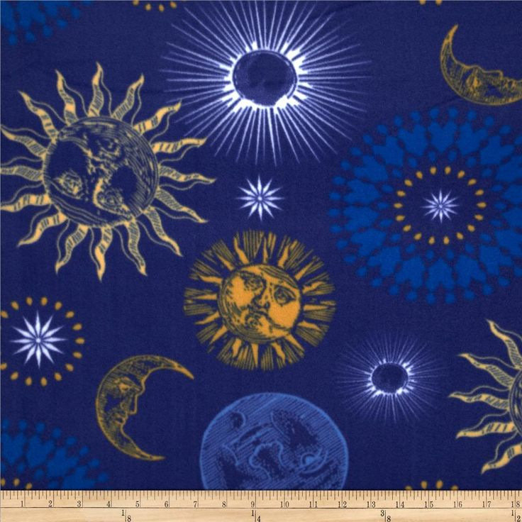 28 best moon and stars material images on pinterest for Solar system fleece fabric