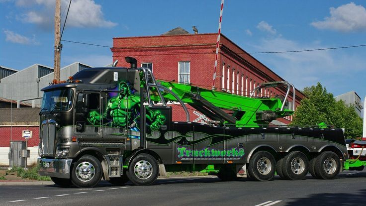 GRS Towing Australia K200 - The Hulk - 75t Rotator Recovery Truck  that is one big ass wrecker. www.batsbirdsyard.com = Bat Houses.