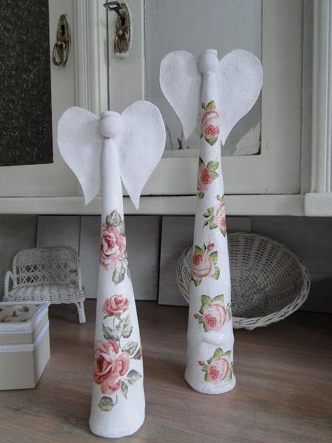 Pracownia Ajm Anioły Figurki Decoupage Handmade