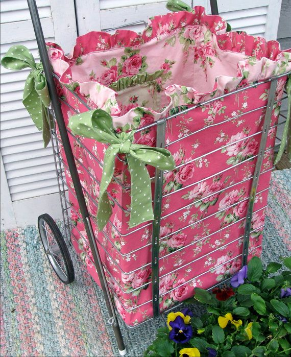 PDF Sewing e-Pattern/Tutorial for Market Cart Ruffled Fabric Liner- Instant Download