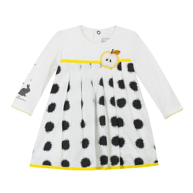 Soldes jusqu'à -50% Robe Texturée Ecru Catimini