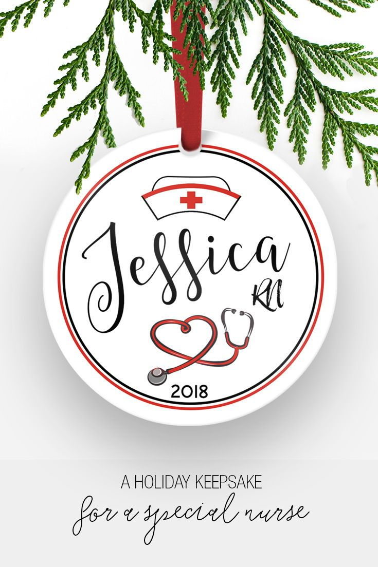 Gifts For Nursing Students | Personalized Nurse Ornament | Gifts ...