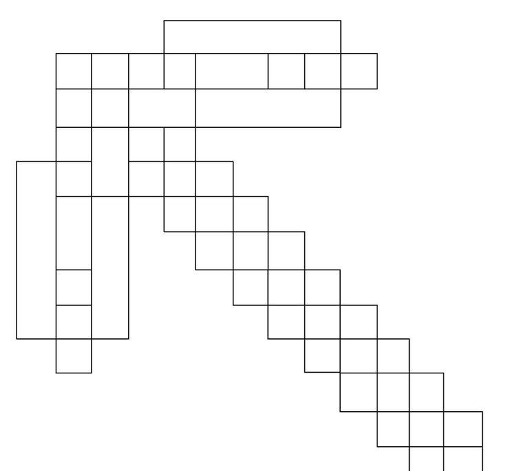 Ausmalbild Minecraft Spitzhacke e1550718847725 | Minecraft ...