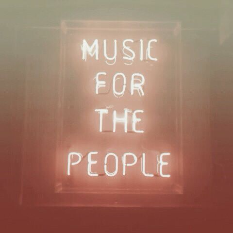 Music for the people | neon