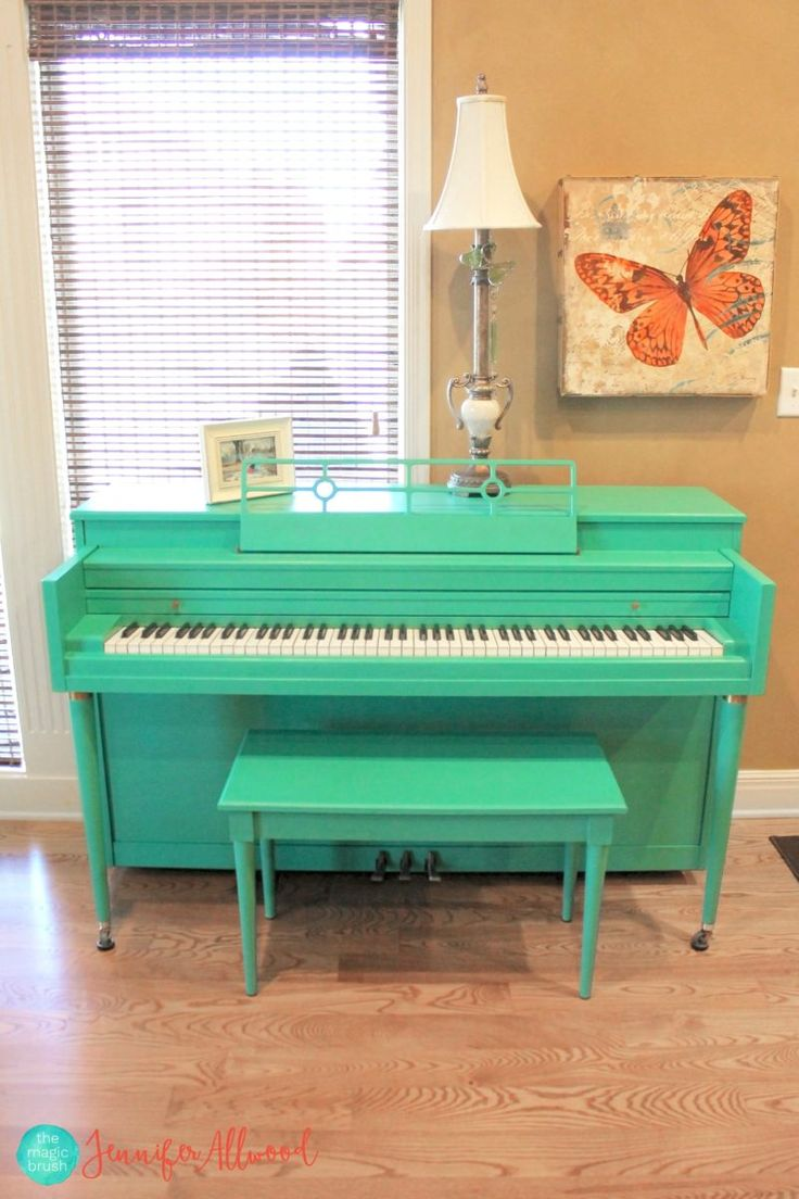 Turquoise Painted Piano | Magic Brush