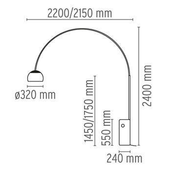 Arco lámpara de pie - Flos Luces y lámparas - LampCommerce