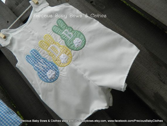 Boys Bunny Shirt, Gingham, Matching Sister outfit available, Gingham Shorts Available