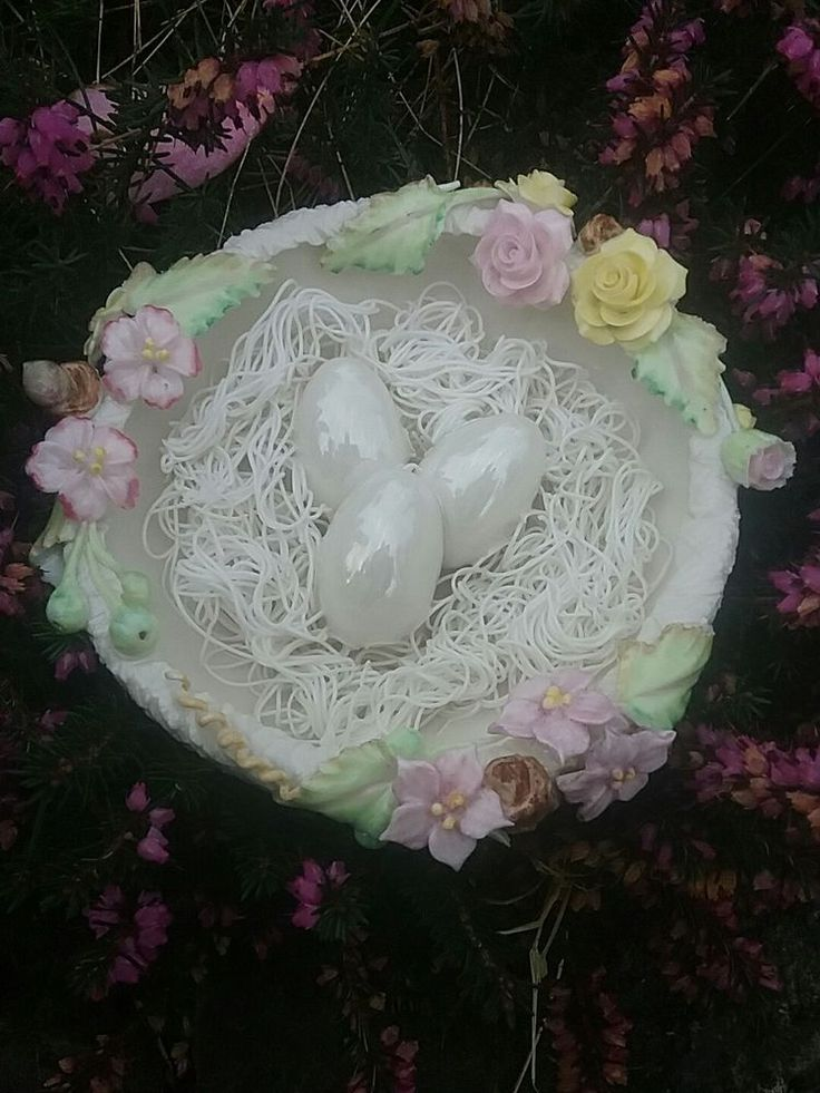 Entirely handcrafted here at my studio in southern ireland the piece is 6in across and the workmanship is outstanding hand formed porcelain nest with applied branches leaves roses , wildflowers buds and twigs all made by hand and the eggs have a beautiful mother of pearl luster the straw in the nest is made from extremely fine extruded porcelain the piece is glazed and the colours are wonderful all handpainted I ship Ww and have signed this personally | eBay!