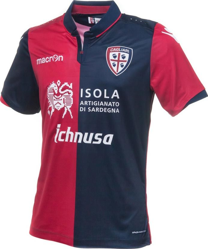 The new Cagliari Calcio 16-17 home, away and third kits introduce unique and interesting designs for the Serie A club, made by Macron.