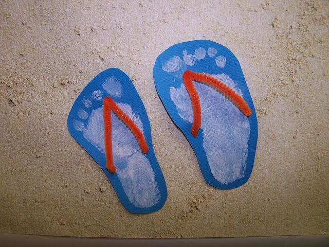 Flip Flop Prints--good end of the year project summer break