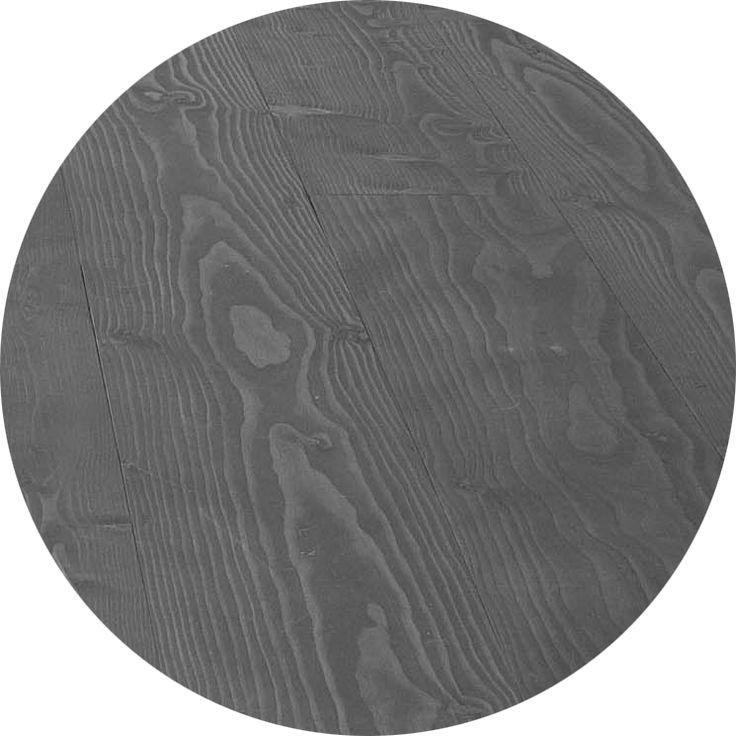 A darker grey - wooden floor finished in Junckers Anthracite Grey Rustic Oil #junckers #woodflooring #solidhardwood #woodenfloors #grey #gray #greyfloor #floorfinishes