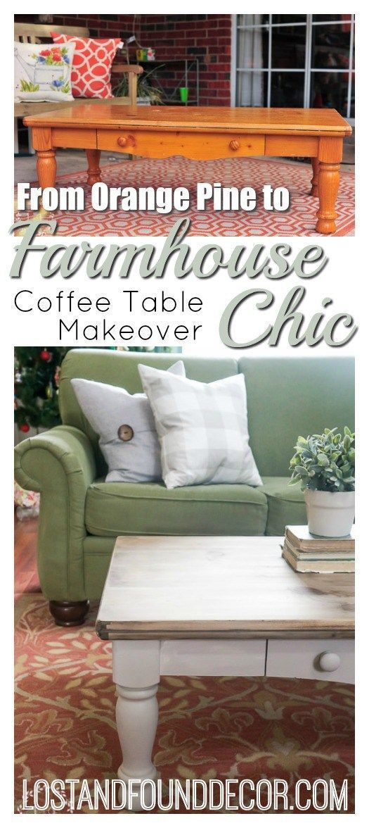 Pine Coffee Table Makeover Farmhouse Style