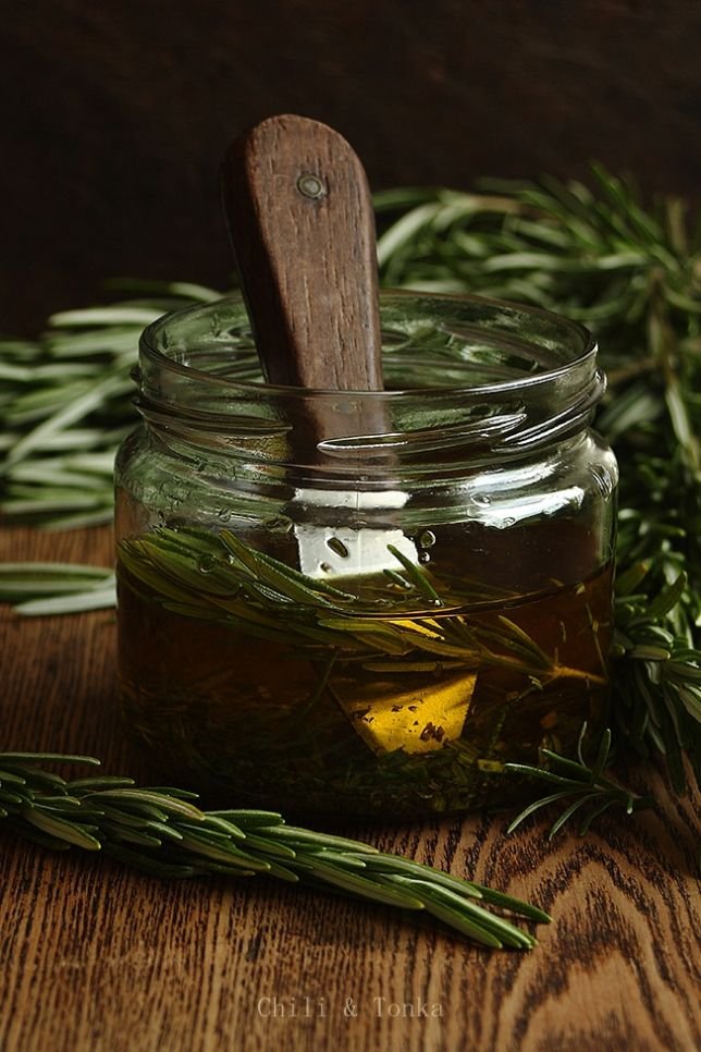 Extra Virgin Olive oil and rosemary