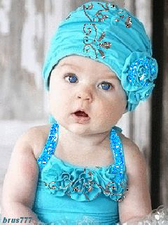 BEAUTIFUL BABY IN BLUE