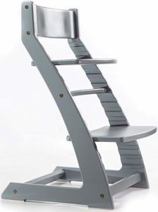 High Chair Egg Fabric Swivel And Footstool Heartwood Adjustable Wooden Grey Color For Babies Toddlers
