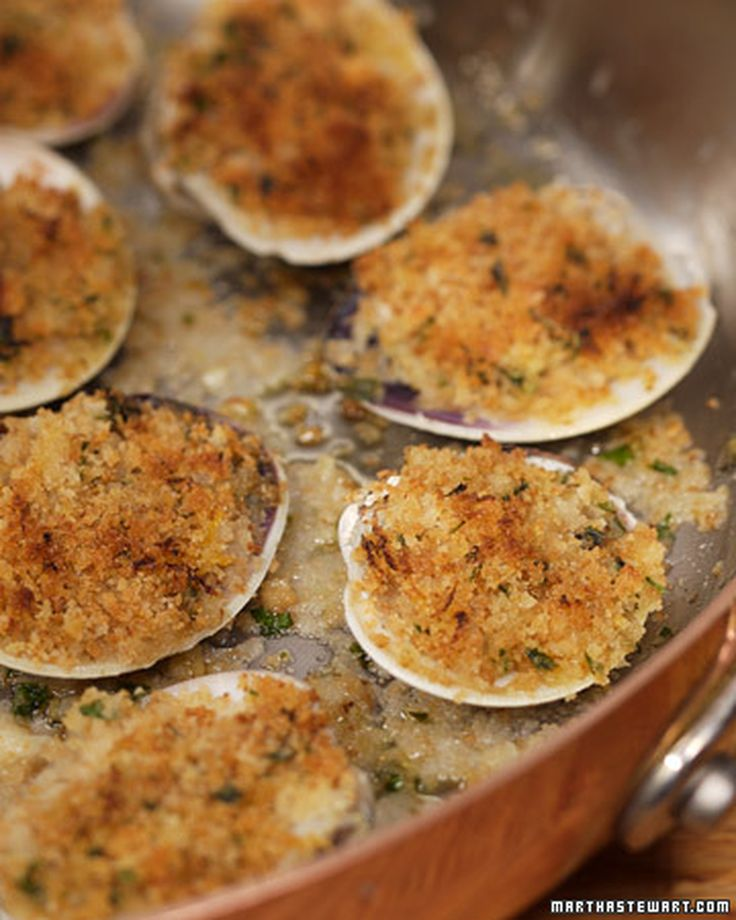 """This recipe for delicious baked clams with Italian-style breadcrumbs and horseradish can be found in """"The Young Man and the Sea"""" by David Pasternack and Ed Levine."""