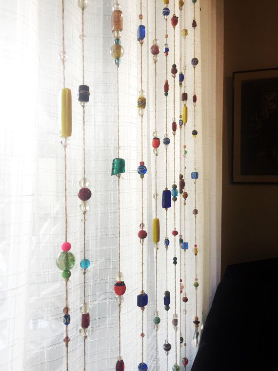 Attractive Colorful Glass Beaded Door Curtain And Sun Catcher, Glass Beaded Wind Chime  , Beaded Window Curtain, Beaded Door Hanging Bea