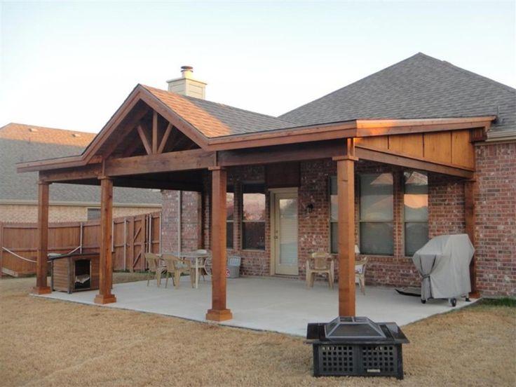 Hip Roof Porch Plans Rustic patio, Backyard porch