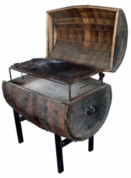 Grill ~ OK, so this is a Tequila barrel. We could do it with a wine barrel too!
