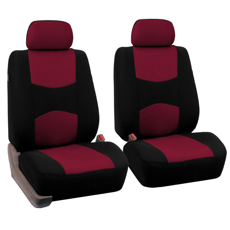 FH Group Burgundy Front Bucket Seat Covers