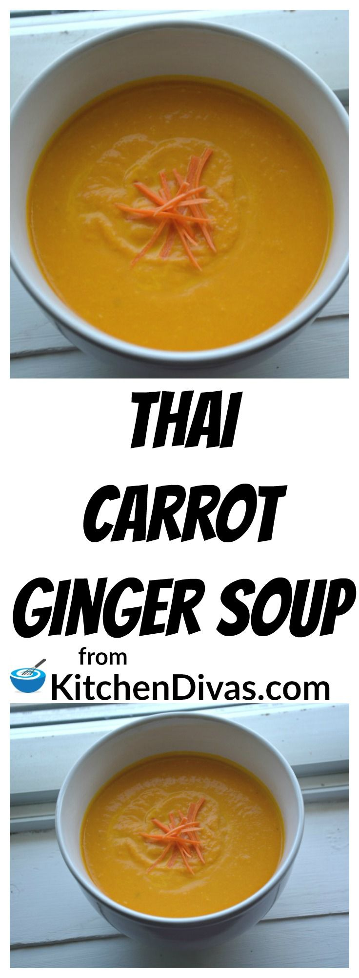This recipe for Thai Carrot Ginger Soup is delicious every time! My late friend Marcel first discovered this recipe and we have been making it ever since. We can't seem to help it. We think this soup is that good. You will too!